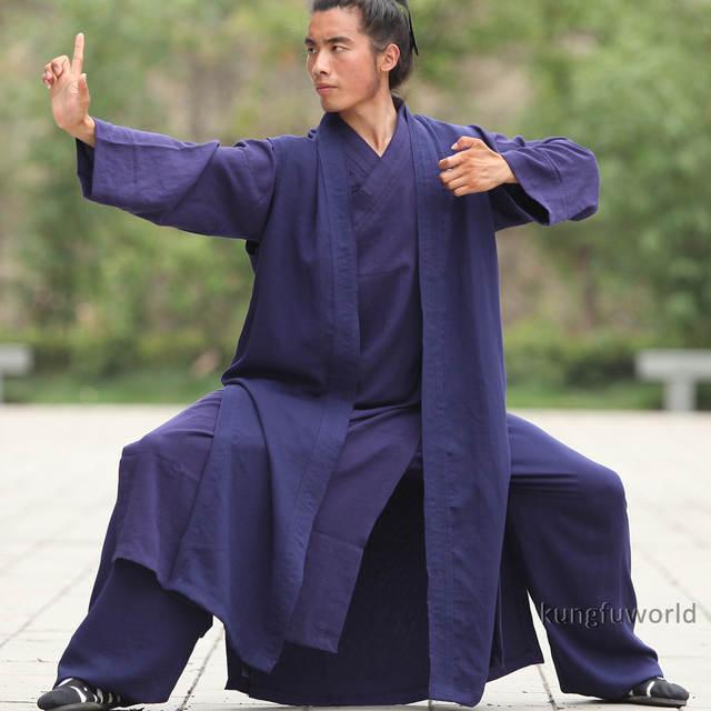 6488e750f825b placeholder 24 Cores De Linho 3 Peças Wudang Tai Chi Kung fu Shaolin Monge  Taoísta Robe Terno