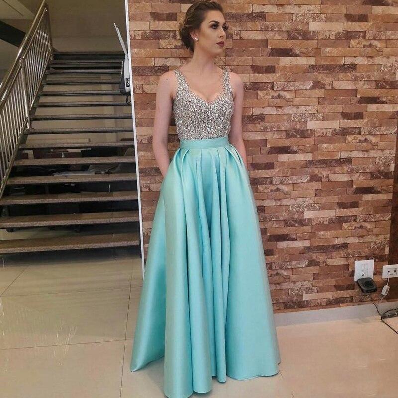 Tiffany Blue High Quality Long Satin Skirts Womens Fashion Floor Length Long Skirt 2017 Chic Invisible Zipper Maxi Party Saia
