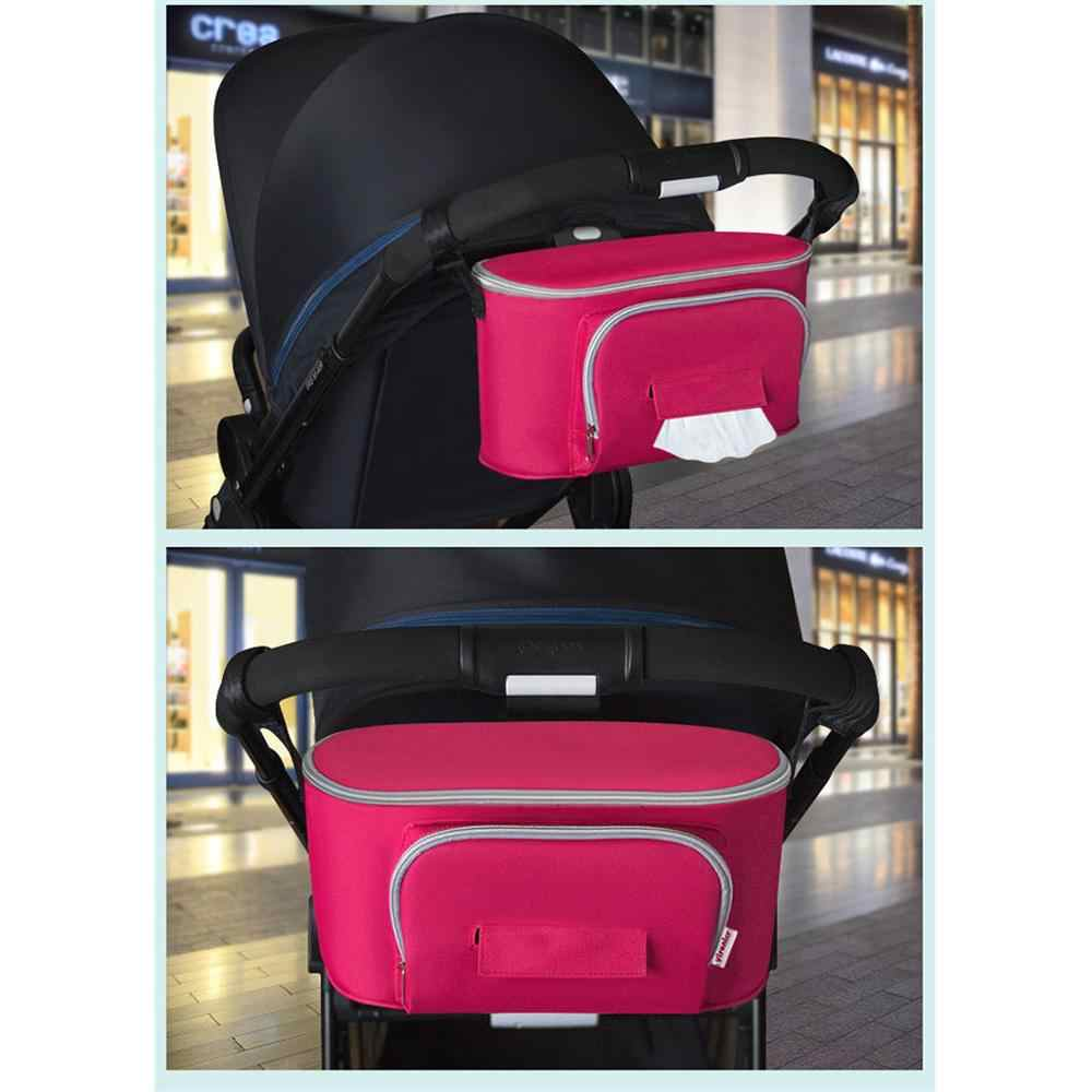 Stroller Storage Bag Baby CarMummy Bag Must-Have Baby Car Accessories bag for toys zip lock plastic bags essential oil @12