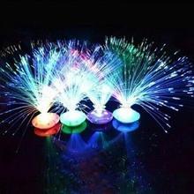 Светодиоды волоконно-оптический фонарь мигалка лампа набор креативный ночной Светильник Рождественская елка Фея Свадебные праздничные украшения лампы