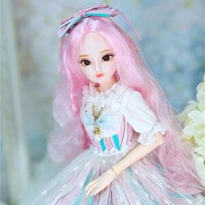 Image 2 - DBS Doll1/4 BJD Sữa Hoàng Hậu Tên Amenda Tóc Hồng Cơ Khớp Cơ Thể Bé Gái, SD