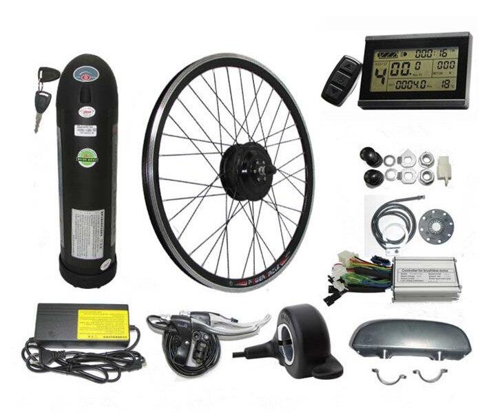 36V 13AH Kettle Battery Electric Bike Kit 350W 500W Front