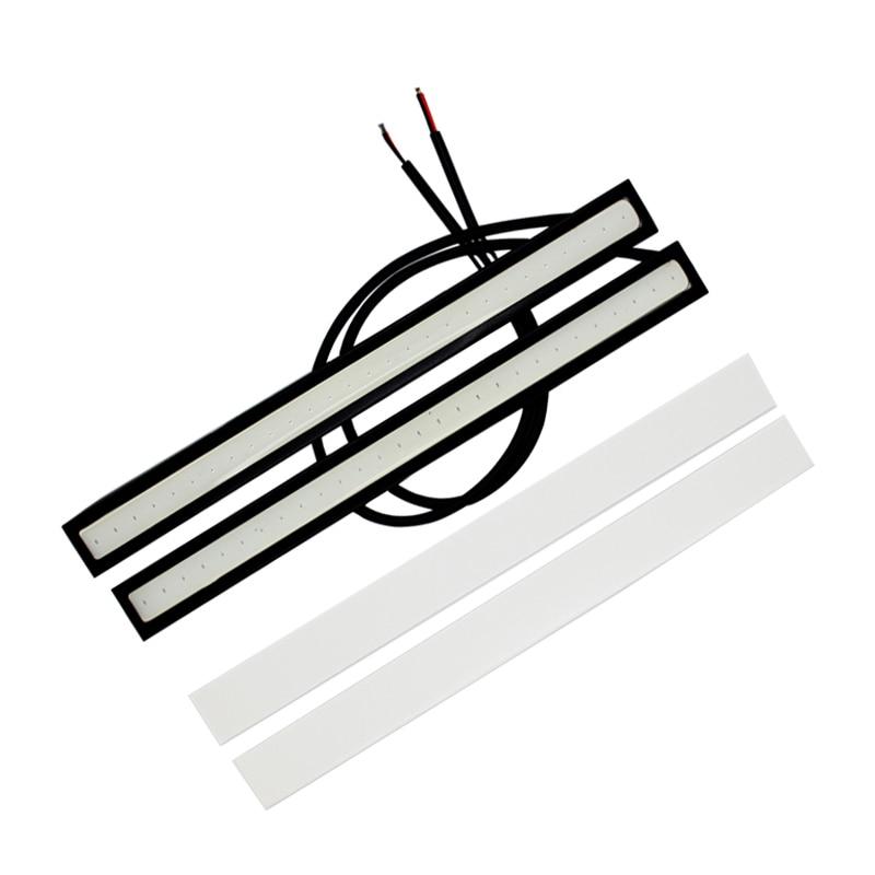 2Pcs / Ζεύγος HAUSNN COB Φωτισμός ημέρας με ελαφρύ αυτοκίνητο Αδιάβροχο DRL 12V DC Φωτισμός εξωτερικού φωτισμού