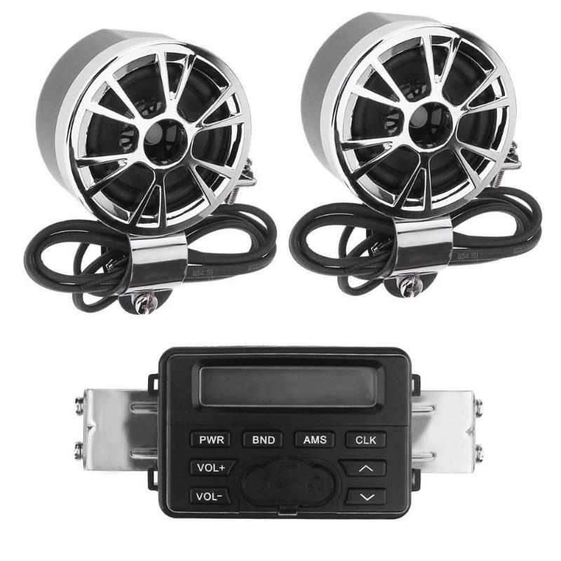 1Pcs DC 12V Waterproof Motorcycle Handlebar Audio System FM Radio MP3 Stereo 2 Speakers Motorcycle Handlebar MP3 Audio Hot Sale цена