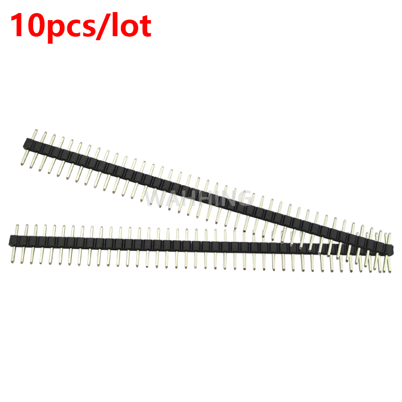 10pcs 40Pin 40 Pin Single Row Straight male Connector 1*40Pin 2.54mm Pitch Header Socket Strip for BreadBoard HY1230*10 bonatech 2 pin straight pin socket connector white 1000 pcs