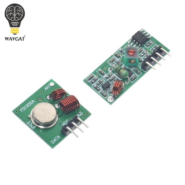 US $0 75  Articoli Elettronica Smart, smartwatch, bracciali smart fitness  433 mhz trasmettitore RF e Modulo ricevitore kit di collegamento Per