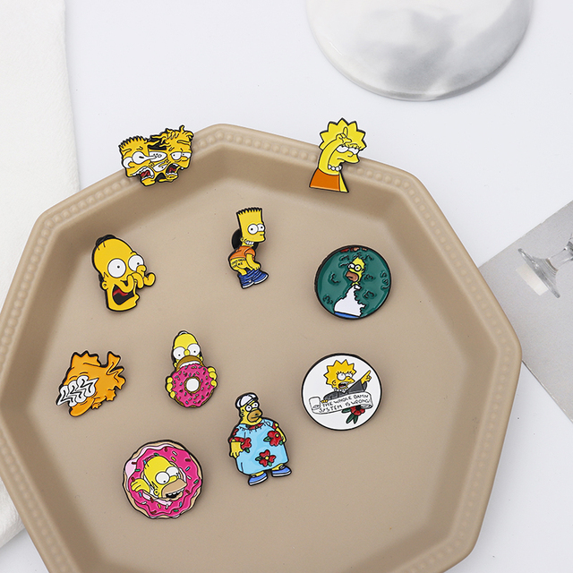 Simpsons Brooch Pins