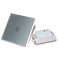 Wall Switch 1 Way Remote Control Light Switch Touch Button Crystal Glass Panel LED Indicator Touch