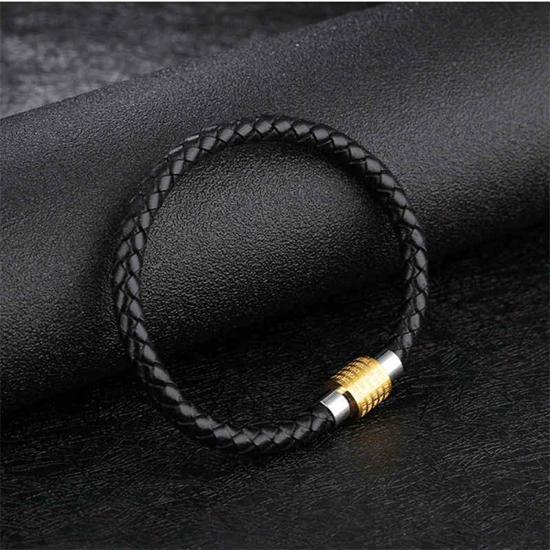 Damskie bransoletki ze stali nierdzewnej magnetyczne klamra antyczne biblijne krzyż pisma skórzane biżuteria bransoletka męska miłośników bransoletka