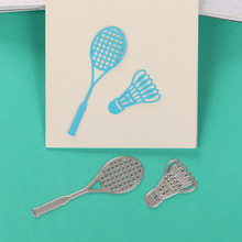 DUOFEN METAL CUTTING DIES 170315 tennis sports game lace hollow DIY Scrapbook Paper Album 2018 new