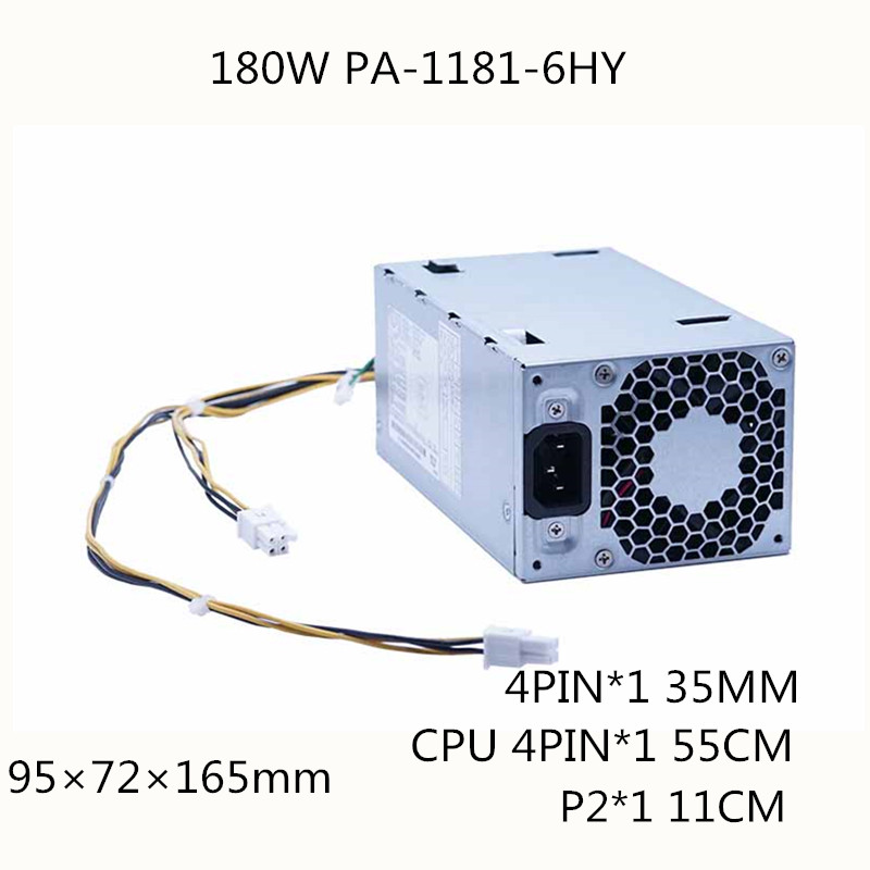 180W Server Power Supply 180W PSU 800 G3 SFF 180W Power Supply PSU PA 1181 6HY 901771 003 001 280 Pro G3 MT D16 180P1B PCH023|PC Power Supplies| |  - title=