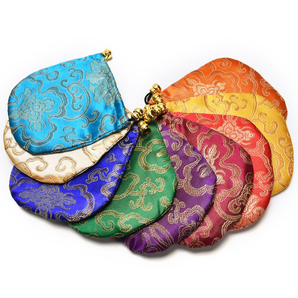 1x Jewelry Display Mini Jewelry Drawstring Bags Women Jewelry Storage Bag Chinese Silk Embroidery Packaging Bags
