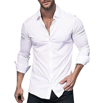Sleeper #J5 2019 Fashion Men's Long Sleeve Solid Color Shirts