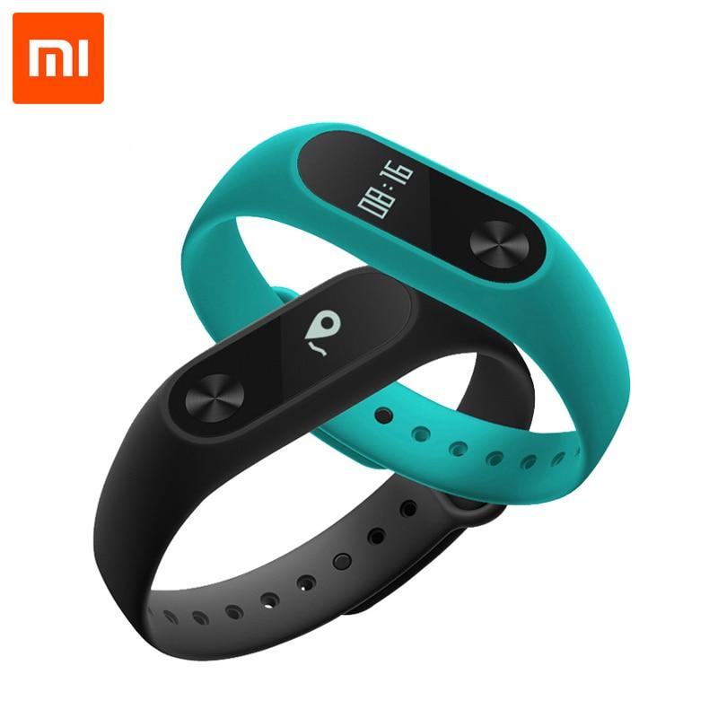 imágenes para Original Xiaomi Mi Banda 2 MiBand 2 Pulsera Pulsera Inteligente de Ritmo Cardíaco Fitness Touchpad Pantalla OLED