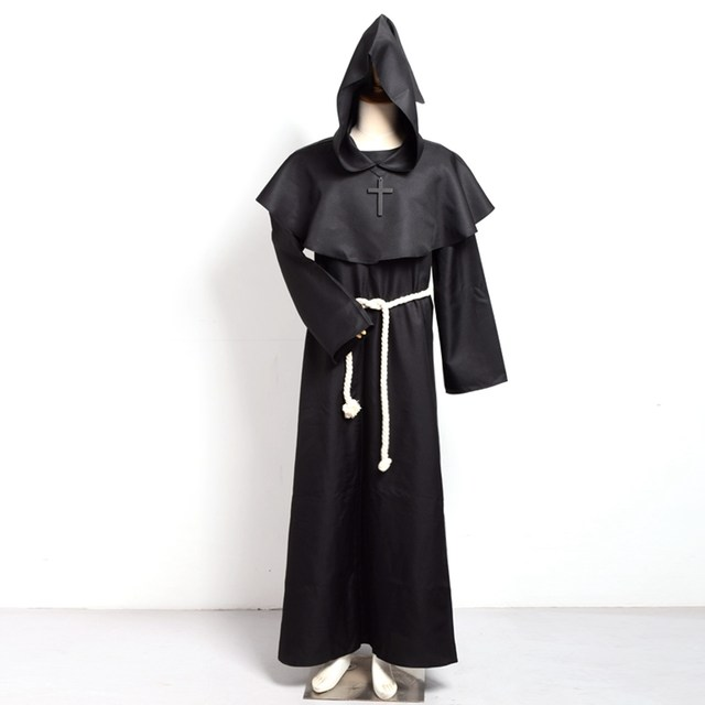 image  sc 1 st  Aliexpress & Online Shop Medieval Monk Costume Cosplay Gown Renaissance Christian ...