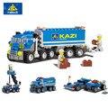 163 unids kazi 6409 bloques de construcción camión de ladrillos de construcción de juguetes de bebé juguetes para niños brinquedos regalo de cumpleaños para los niños