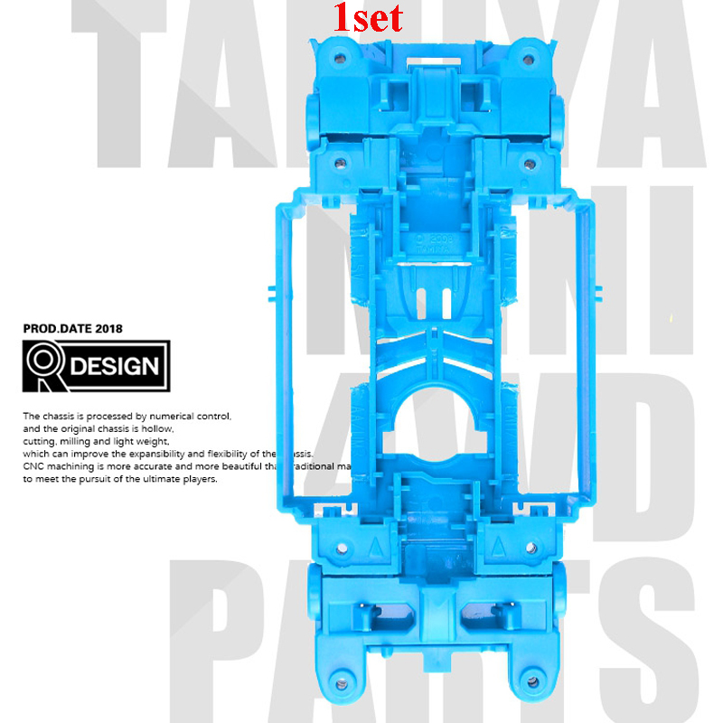 1Set MSL/MS Chassis Frame Internal Shock No Need Expand Spring CNC Secondary Processing for RC Model Tamiya Mini 4wd Racing Cars