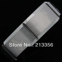 Free Shipping Buy Cheap Price Discount Jewel USA HOT Selling 8MM Men&Womens Six Faced Brushed Masonic New Tungsten Wedding Rings