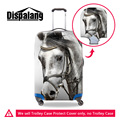 Dispalang 3D animal protective waterproof luggage cover thick elastic travel suitcase covers apply 18 to 30 inch case rain cover