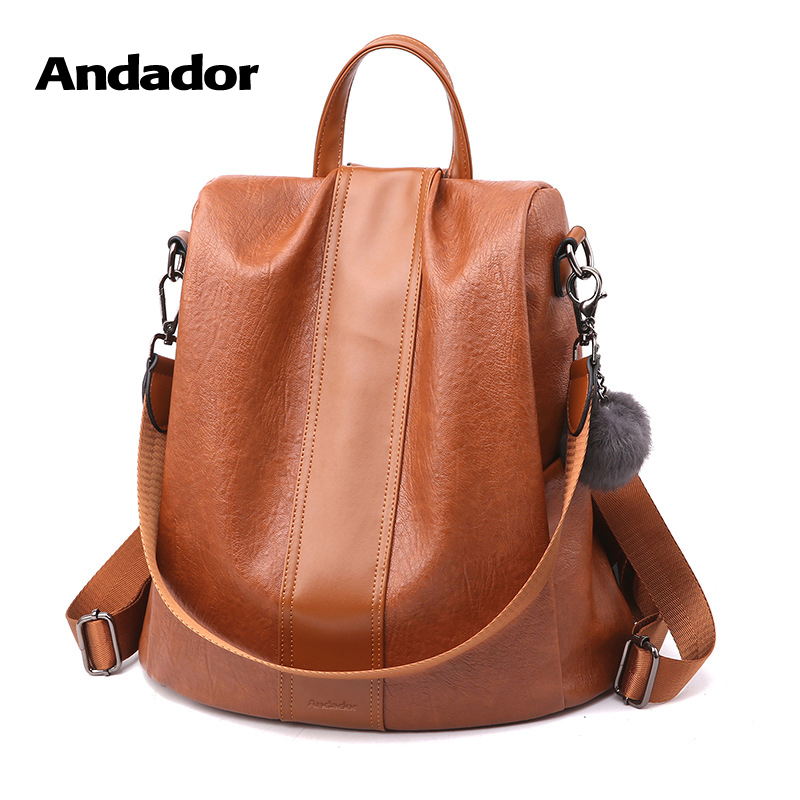 New fashion casual pu women anti-theft backpack 2019 hight q