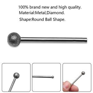 Image 5 - 9pcs/set 1 8mm Diamond Grind Needle Head Cutter Jade Carve Tools Engrave Rotary Spherical Burr Tool 3mm Shank Round Ball
