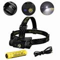 Nitecore HC60 /HC60W High performance rechargable Lightweight headlight headlamp with NL189 18650 3400mah battery