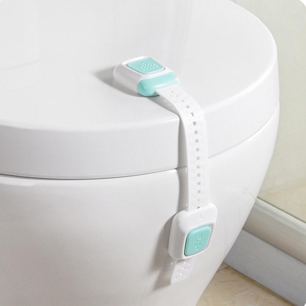 Multi-Function Two-Button Baby Anti-Pinch Children Security Lock Cabinet Door Lock Refrigerator Toilet Drawer Lock