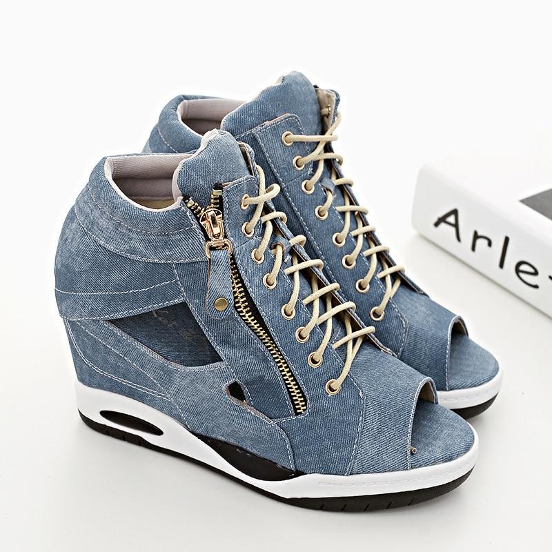 Cales Gladiateur Femmes Femme Talons Sandales Compensées Lady Chaussures Bout Ouvert Dame Jeans 3295 À Chaussures Pompes Plate Designer forme Haute Des 5wvZqnW4w