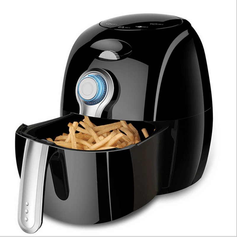 220V/1300W 2.7L Household Non-stick Multifunctional Electric Air Fryer Oil Free And Smokeless French Fries Machine 220v 2 6l electric deep fryer household air fryer oil free and smokeless intelligent french fries machine
