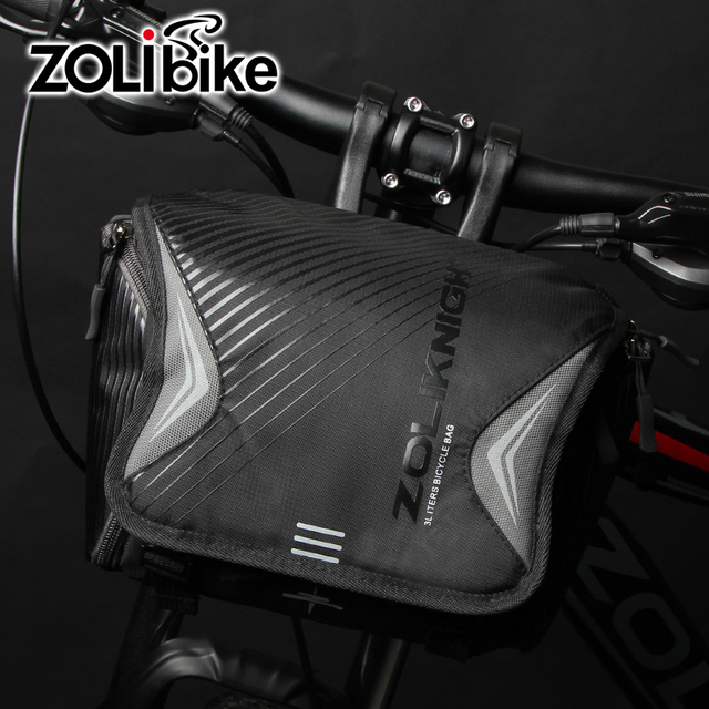 ZOLibike Bicycle Bag High Capacity Handlebar Waterproof Front Tube Pocket Shoulder Bags Outdoor Riding