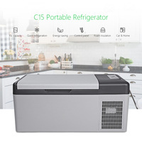 C15 Portable Refrigerator Freezer LED Digital Display Quick Refrigeration AC / DC for Car Home Picnic Camping Party