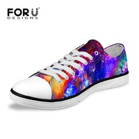 New Low Top Canvas Shoes For Women Lady Galaxy Star Walking Flats Breathable Women Casual Shoes