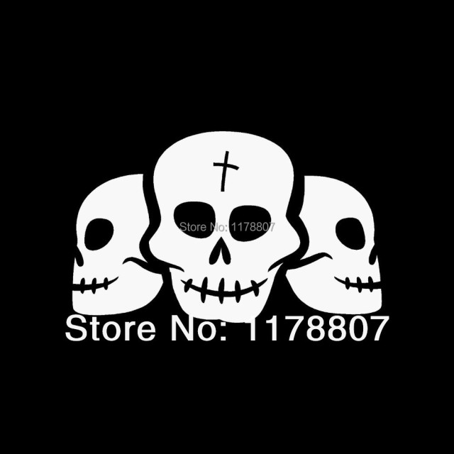 Pirateghost Skull Sticker