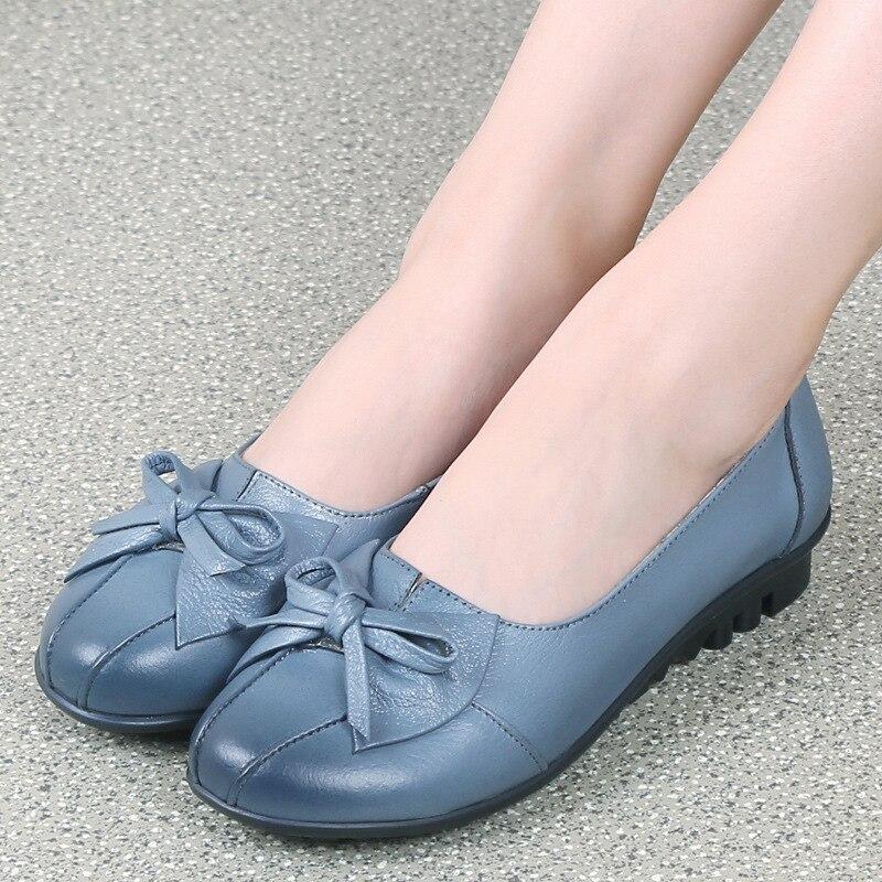 2017 Zapatos de Mujer de Cuero Genuino Zapatos de Las Mujeres 3 Colores Zapatos