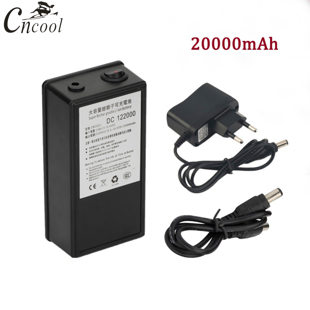 Batterie Lithium-ion portative Rechargeable superbe de paquet de batterie de Cncool DC 12 V 20000 mAh avec le boîtier DC 122000 pour des caméscopes d'appareil-photo