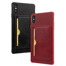 Get more info on the for iPhone 7 Card Case with Kickstand Shockproof Wallet Design PU Leather Rubber hard Cover for iPhone 6 6s 7 8 Plus X XR XS MAX