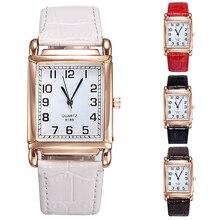 2015 New Hot Hot Fashion Men Women Watches Leather Band Square Dial Quartz Analog Wrist Watch 1MYV 4CZB 6T31 W2E8D