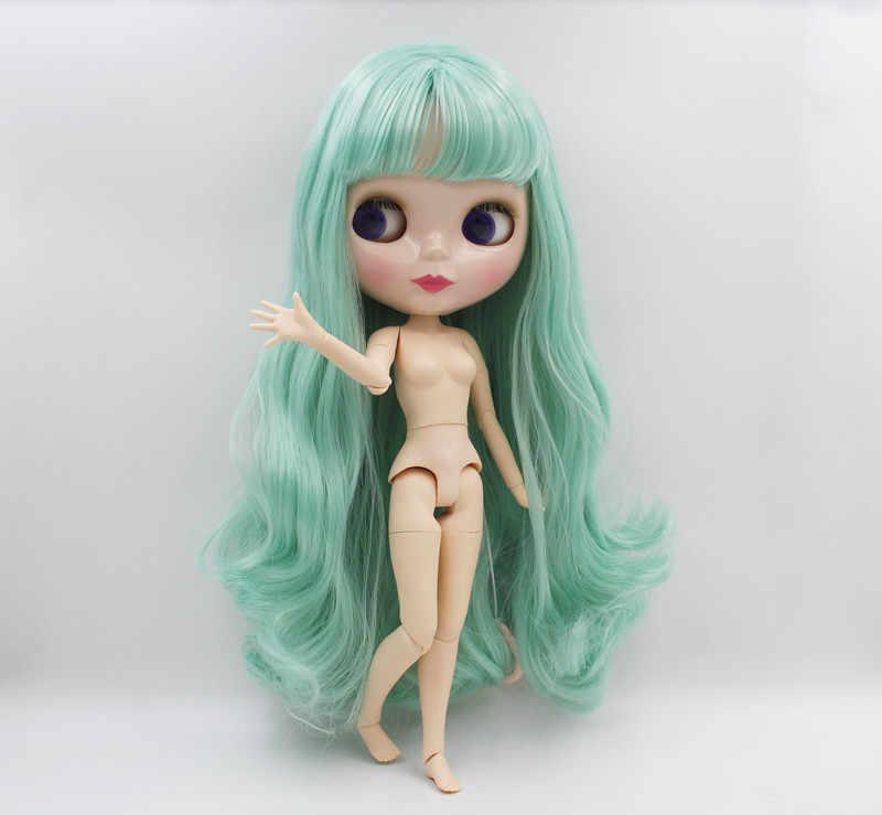 Frete Grátis BJD joint RBL-529J DIY Nude Blyth 4 cor dos olhos grandes bonecas boneca de presente de aniversário para a menina com a bela cabelo bonito brinquedo
