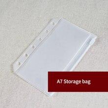 A7 ПВХ сумка для хранения стандартный 6 отверстий прозрачный мешок для карт банкнот сумки свободные лист держатель для пластиковых карт карманы органайзер для хранения