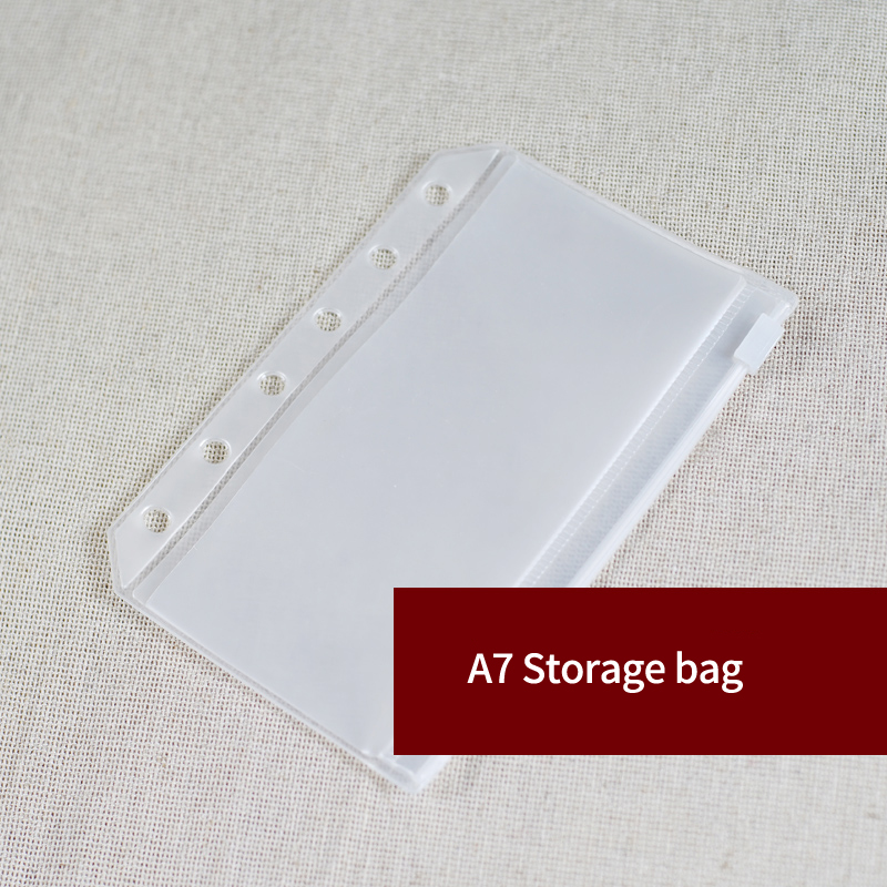 A7 PVC Storage Pouch Standard 6 Holes Transparent Bag Card Bills Bags Loose Leaf Plastic Card Holder Pockets Storage Organizer
