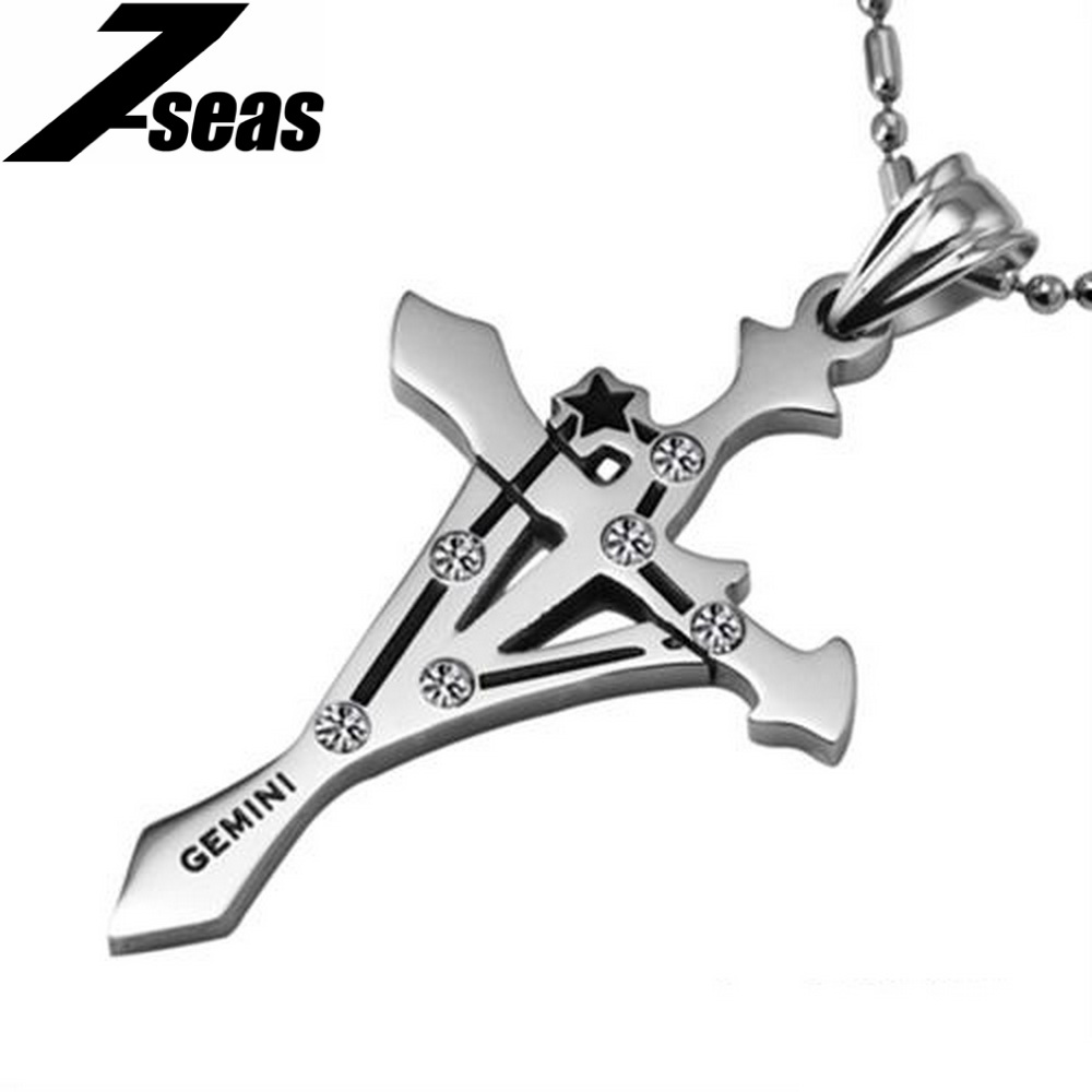 Fashion design long necklace Gemini pendant necklaces for unisex 435