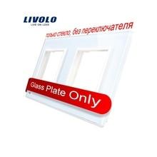 Livolo Luxury White Pearl Crystal Glass, 150mm*80mm, EU standard, Double Glass Panel For Wall Switch&Socket,VL-C7-SR/SR-11