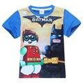 Ropa de verano cosas La exitosa Película de Batman niños camisas ropa barata TELEVISIÓN de dibujos animados de Algodón de manga corta T-shirt