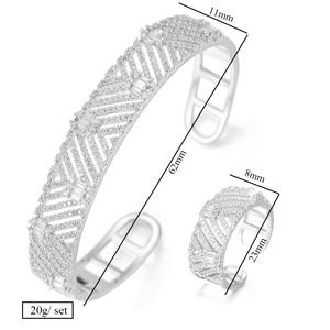 Image 5 - Godki Luxe Trendy Saudi Arabië Bangle Ring Set Sieraden Sets Voor Vrouwen Bruiloft Engagement Brincos Para Als Mulheres 2019