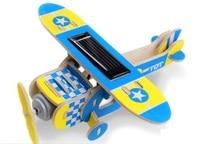 DIY Mini Wood Solar Toys for children gift birthday Novelty & Gag Toys