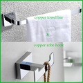 Chrome Finish Copper Towel Holder & Robe Hook Bathroom Holders Wall Mounted