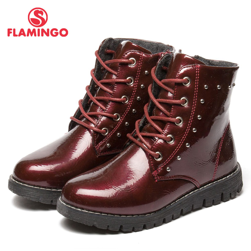 FLAMINGO Autumn/winter Keep warm Boot High Quality Lace-Up Anti-slip Children Shoe for Girl Free shipping 82B-MLB-0911/0912FLAMINGO Autumn/winter Keep warm Boot High Quality Lace-Up Anti-slip Children Shoe for Girl Free shipping 82B-MLB-0911/0912