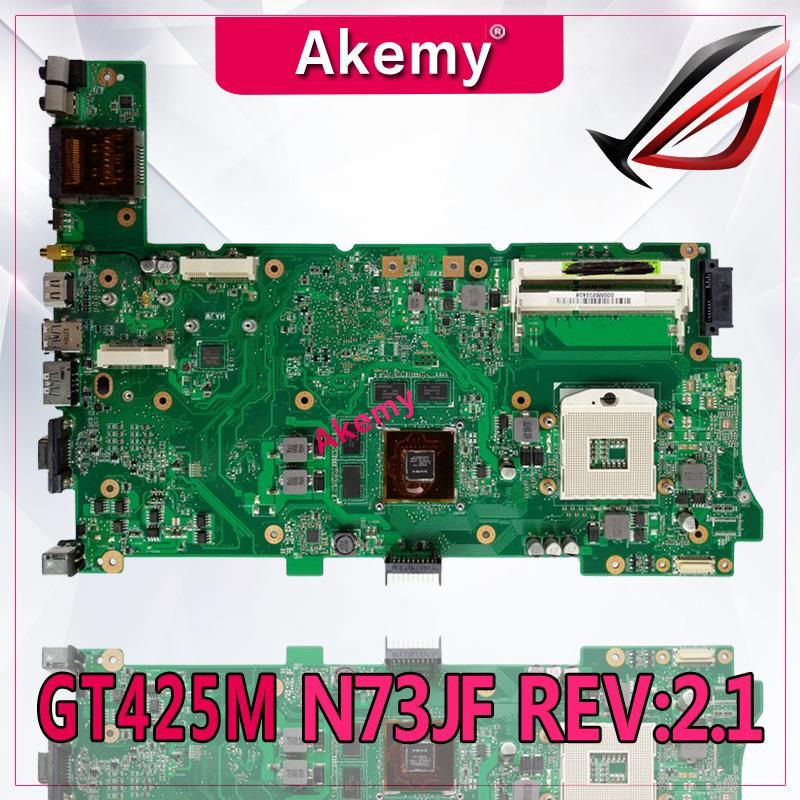 Akemy Original Laptop Motherboard for ASUS N73JN N73JG N73JQ N73JF REV:2.1 60-NZYMB1100-C14 Mainboard 2 RAM slots 100% testedAkemy Original Laptop Motherboard for ASUS N73JN N73JG N73JQ N73JF REV:2.1 60-NZYMB1100-C14 Mainboard 2 RAM slots 100% tested
