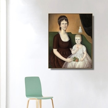 Mother and Children Famous Oil Paintings Canvas Poster Print Painting Decorative Picture for Living Room Home Decor