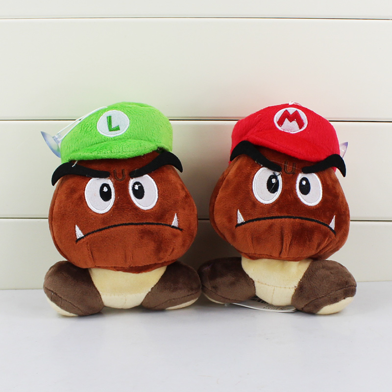 d5a000bcded 12cm Super Mario Bros Goomba Plush Toy Smile Amazed With Wings Hats Goomba  Stuffed Dolls-in Movies   TV from Toys   Hobbies on Aliexpress.com